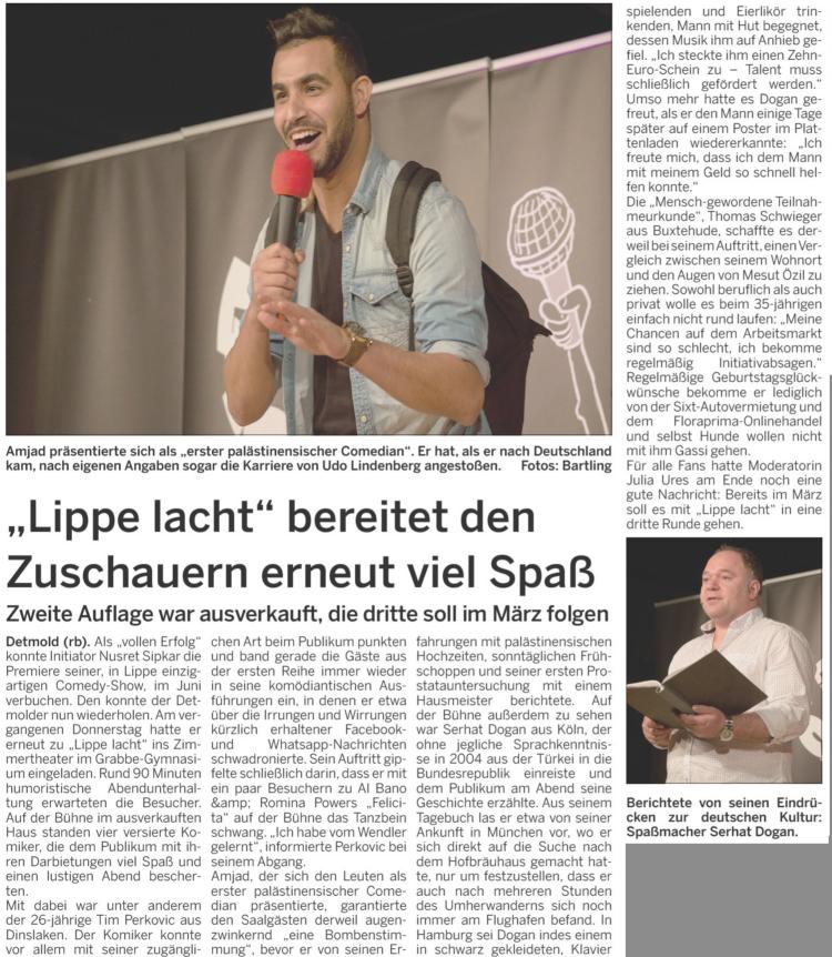 LZ: Lippe lacht betet den Zuschauern erneut viel Spaß – 27 October 2017 mit Serhat Dogan, Thomas Schwieger, Amjad und Tim Perkovic.